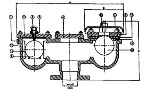 C.I. Air Relief Valves (Cross Sectional View)