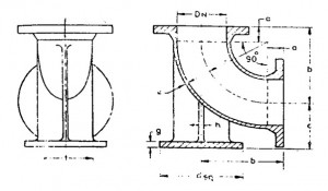 CI Double Flanged ¼ Duckfoot Bends (Manufacture from 80mm dia to 1500 mm dia)
