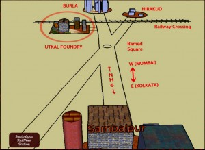 Utakal Foundry On The Simplified Map